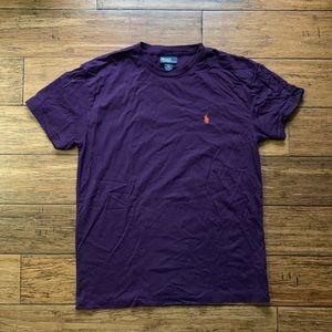 Purple Logo Crew Neck Tee Shirt